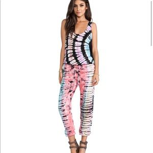 Indah Rhodes tank top jumpsuit in tie dye